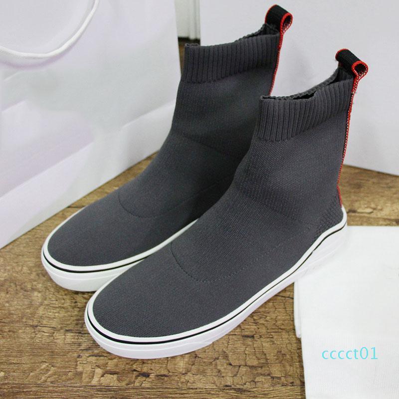 2020 nouvelles chaussures Designer Sock célèbre designer Sneakers Blanc Designer lettre meilleure qualité haute Sock chaussures pour femmes CT01