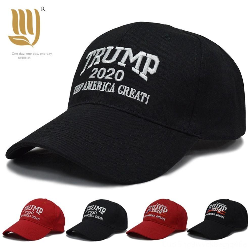 kF3V4 1pcShip America Trump 2020 Donald Cap Make America Great Again Hat Embroidery keep Ball Great hat Republican President Trump caps
