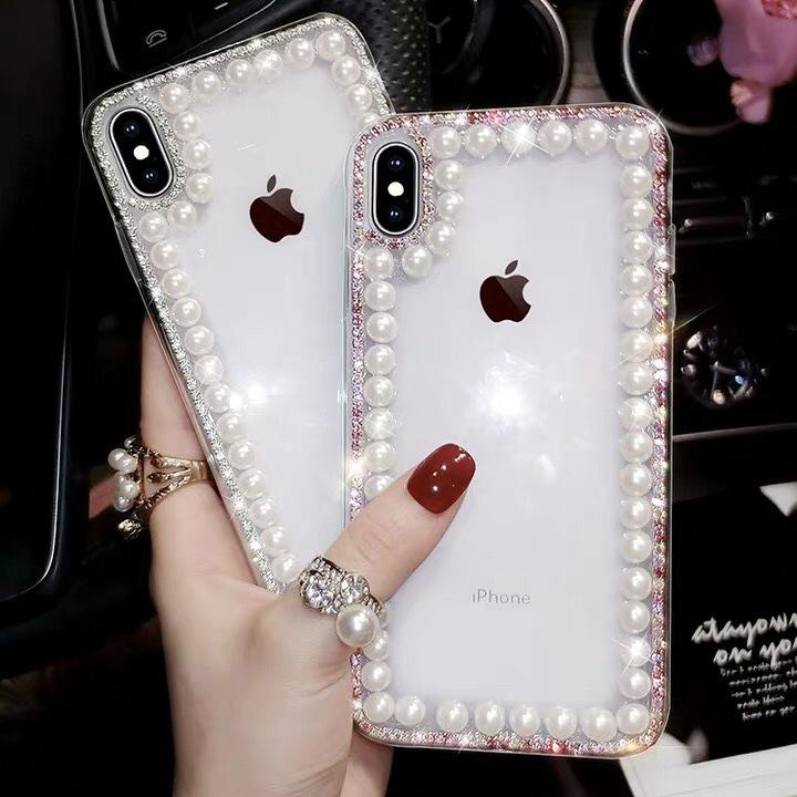 Glitter Pérola Limpar Phone Cases para iPhone 11 Pro Max XR XS MAX X 8 7 6 Plus Caso 6S tampa do iPhone para 11 Pro XR XS MAX X mais