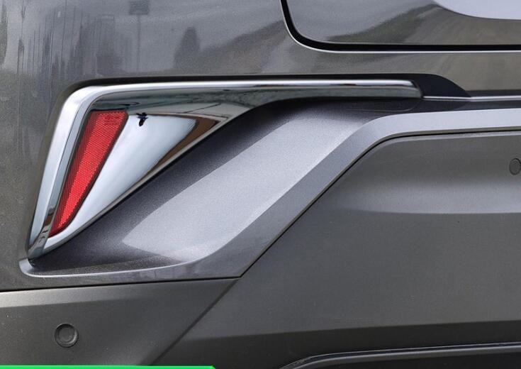 لTOYOTA C-HR 2017 2 PCS العلامة التجارية الجديدة عالية الجودة مصباح ABS الكروم الخلفي العلوي الضباب غطاء تريم السيارات اكسسوارات التصميم السيارات