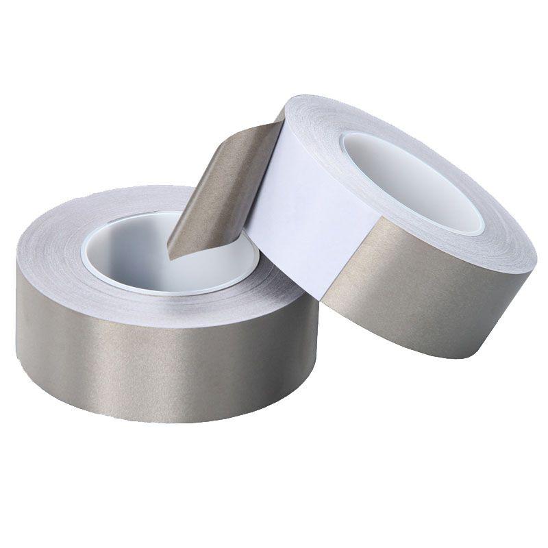 35mm*50M Conductive Fabric Tape EMI Shielding Tape Single Side Ni-Cu Plated Conductive Cloth Conductive Adhesive Tape for Electronics