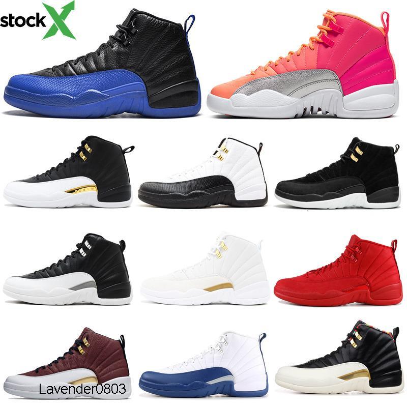 indirim koyu gri 12s erkekler Basketbol ayakkabıları 12 Ters Taksi Oyunu Kraliyet kanatları SICAK PUNCH mens eğitmenler Spor Spor ayakkabılar 7-13