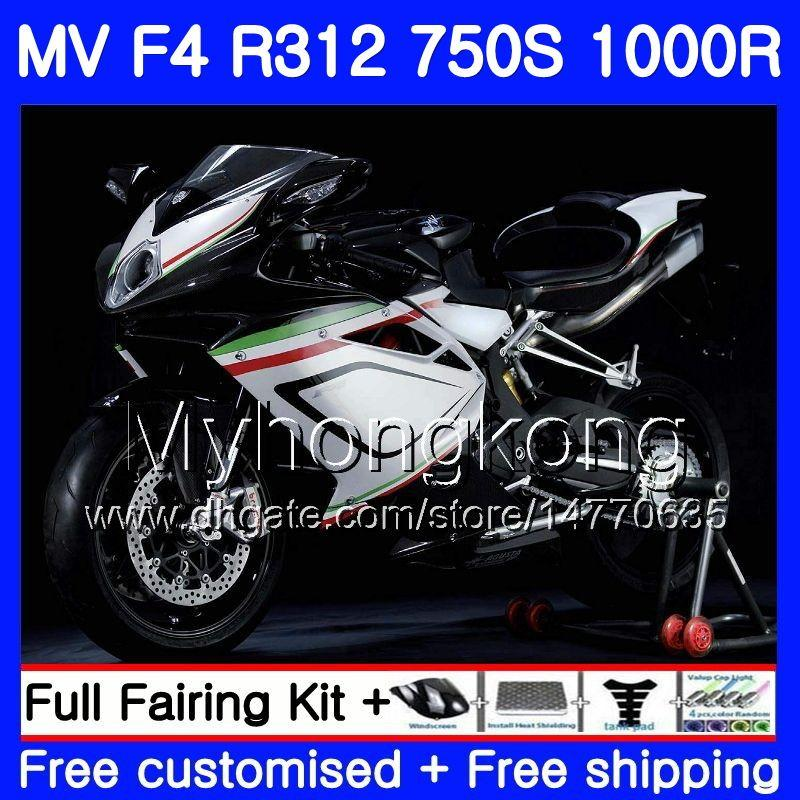 차체 작업 MV Agusta F4 R312 750S 1000 R 750 1000CC 05 06 키트 320HM.16 1000R 312 1078 1 + 1 MA MV F4 05 06 hot white 2005 2006 Fairing