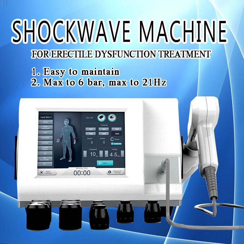 Macchina nuova onda onda d'urto della macchina terapia d'urto stile apparecchiature terapia extracorporea ad onde d'urto per trattamenti ED disfunzione erettile
