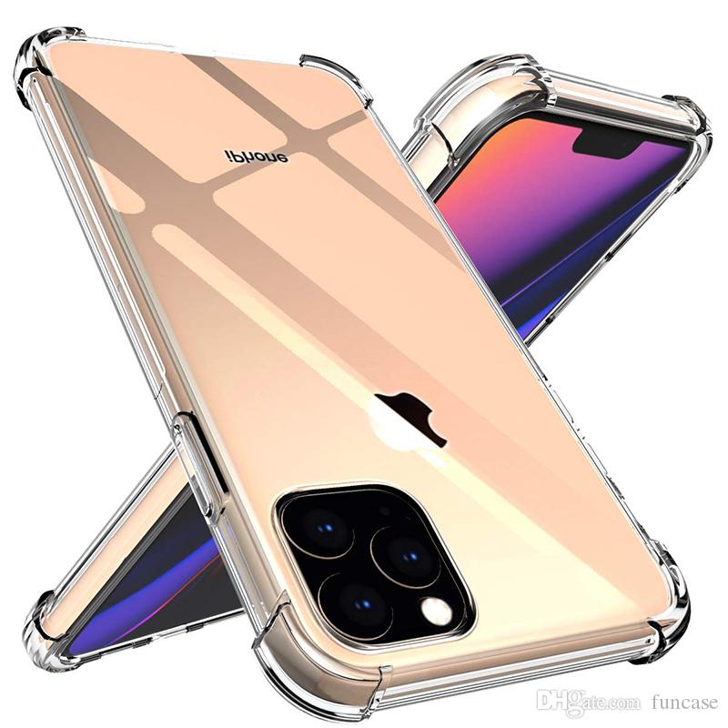 Air Cushion Corner Transparent Clear Soft TPU Silicone Rubber Cover Case For iPhone 11 Pro Max XS XR X 8 7 6 6S Plus SE 2020 5 5S Shockproof