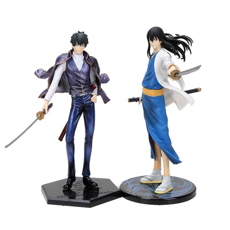 22cm Anime Gintama Action Figure Katsura Kotarou Hijikata Toushirou Dolls Decoration Collection Figurine Gifts T200413