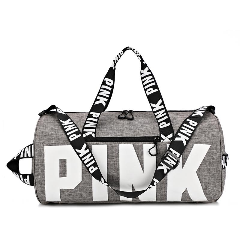 Moda ROSA de grande capacidade esportes saco de viagem saco de aptidão impressão tiracolo mochilas 002