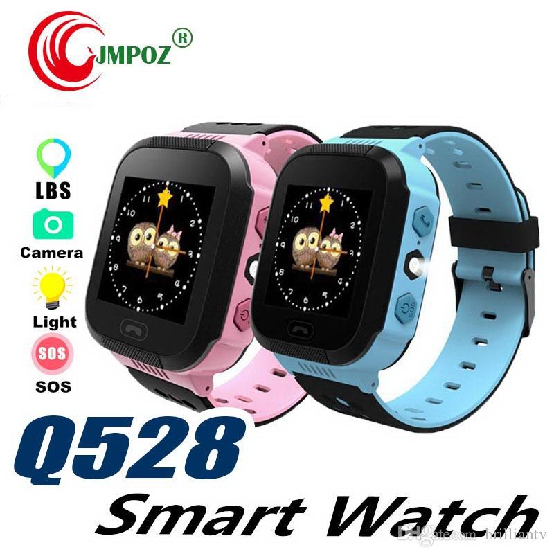 Cute Sport Q528 Kids LBS Tracker Watch Kids Smart Watch with Flash Light Touchscreen SOS Call Location Finder for kid Child PK GPS Q50