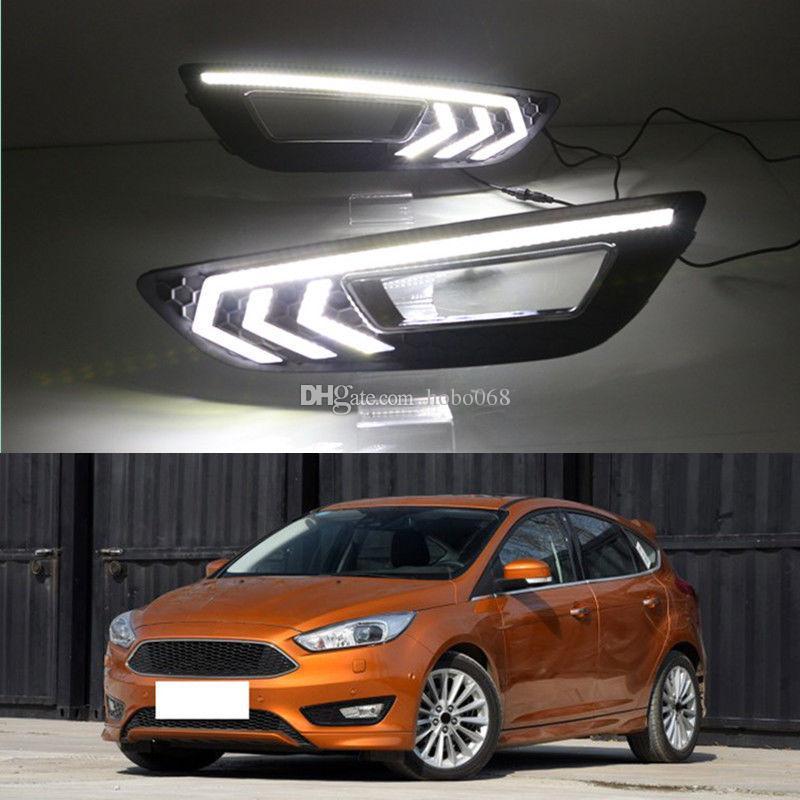 2x para Ford Focus 2012-16 Car Light LED luz de circulação diurna DRL Branco guarnição decorativa DIY