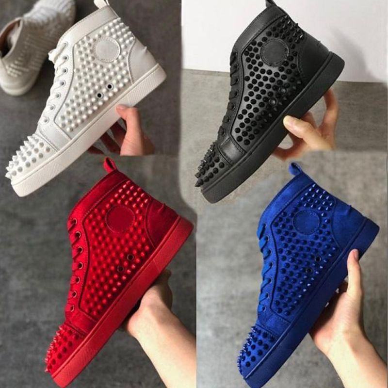 zapatos de la zapatilla de deporte al por mayor pico de ante picos inferiores rojos Chaussures zapatos zapatos de los planos de los hombres partido de las mujeres de los hombres de zapatillas de deporte corrientes