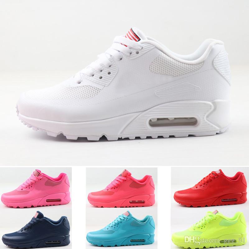 2020 nouvelle 90 HYP QS USA flag Sneaker pour hommes femmes amant designer entraîneur Chaussures de course Sport