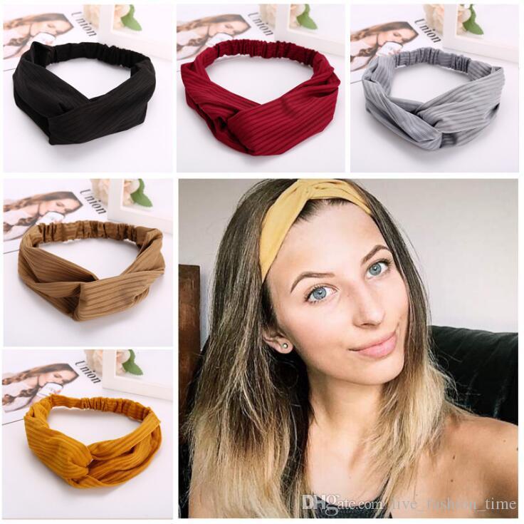 Mädchen Sommer geknotete Stirnbänder für Frauen Hair Wraps Haarband