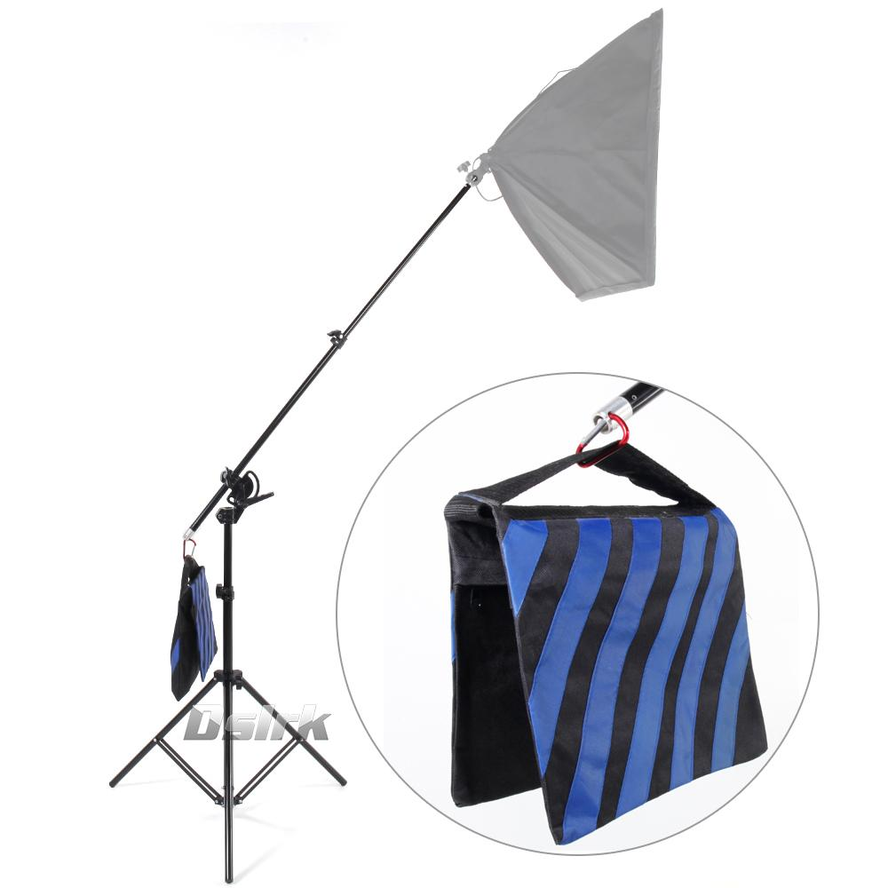 Freeshipping Large size 2 in 1 Multi funzione 3M Light Stand come supporto braccio braccio Top Light Stand kit per studio Light Softbox carico 8KG