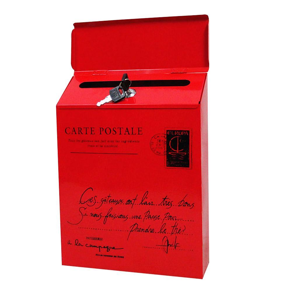 Montaggio a parete di ferro di blocco Letter Box Vintage Posta elettronica posta ordinaria Letter Box giornali MDJ998