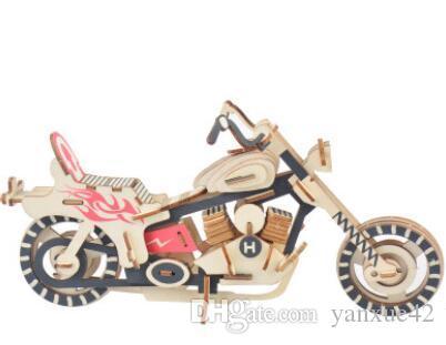 3D Puzzle Jigsaw Puzzle Wooden Car Truk Model Famous buildings Hoses Motorcycle DIY Wooden Classic Kid's UnisexToys Gift(Sun castle)