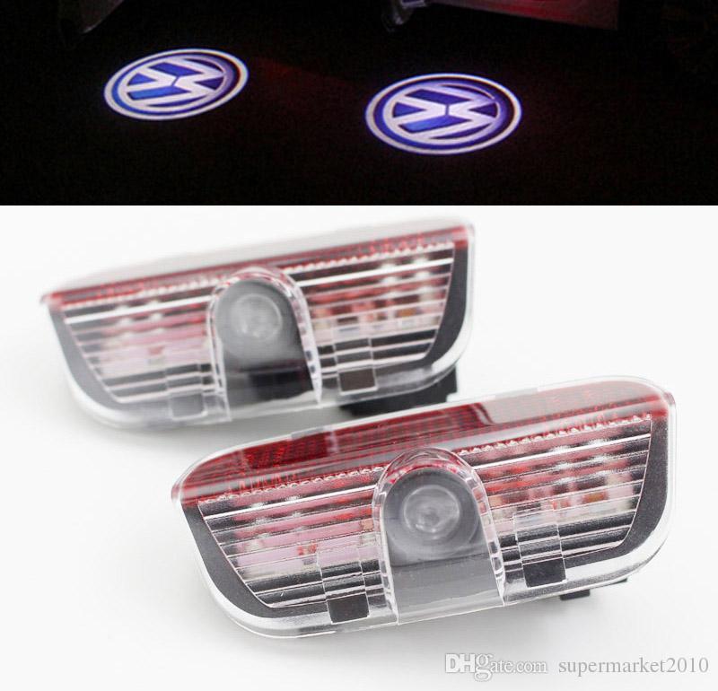 폭스 바겐 폭스 바겐 골프 5 6 7 Tiguan의 투아렉 제타 MK5 MK6 CC의 Passat B6 B7 샤란 시로코 EOS 들어 자동차 도어 빛이 프로젝터 램프 경고 환영