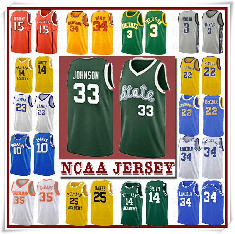 NCCA Jersey Kawhi Leonard James Iverson Männer 23 LeBron Durant 13 Harden Curry Stephen College Basketball Jerseys Russell Westbrook Men4