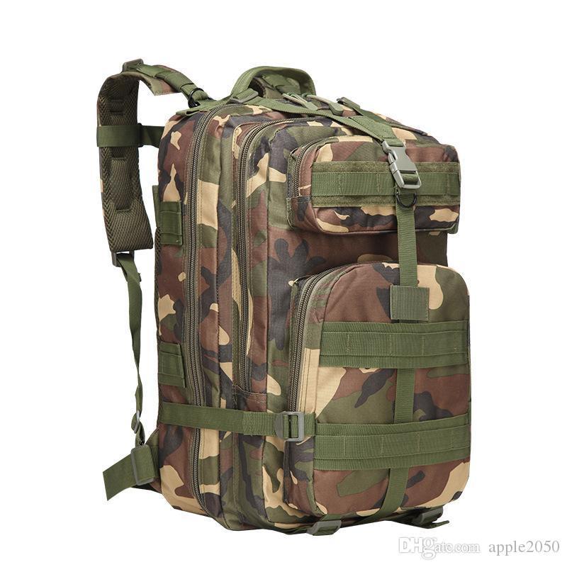 45L التمويه التكتيكية حقيبة الظهر الكمبيوتر حقيبة الظهر المدرسية محمول مقاوم للماء الظهر سعة كبيرة الظهر للبنين فتاة الساخنة