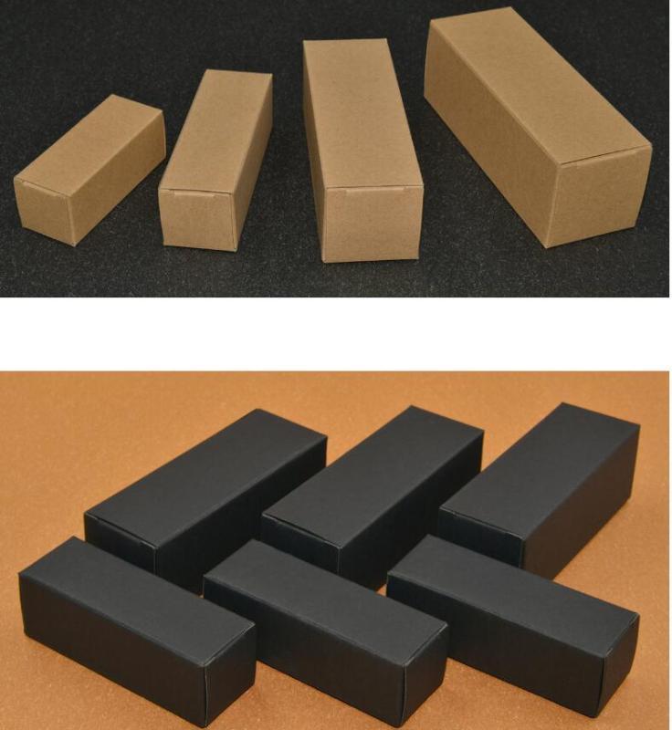 Petit papier kraft Boîte en carton pour cosmétiques Huile Essentielle Paquet Boîte Rectangle Bouteille de parfum Boîtes d'emballage