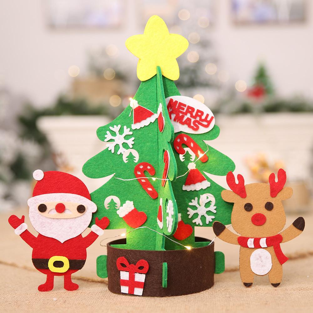 2019 Year New Year Frohe Weihnachten Geschenk nichtgewebtes DIY Weihnachtsbaum Crafts Tabelle Ferienhaus Dekoration Zubehör