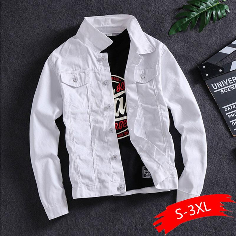Primavera e Outono versão coreana do casaco Denim dos homens da tendência masculina Jacket Tooling bonito da maré homens Marca