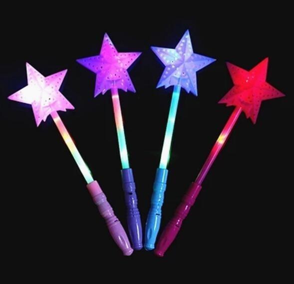 Piscando luzes Up fulgor cola Concert Partido Magia Estrela Wand Xmas do miúdo do Dia das Bruxas Toy Presente de incandescência da fada Pentagrama vara YH1665 T191022