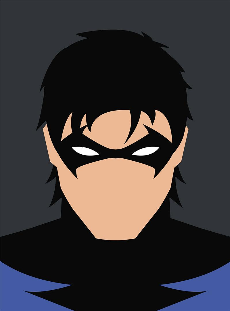 Minimalist Nightwing Art Canvas Painting HD Wall Picture Poster And Print Decorative Home Decor