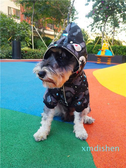 Atacado e Outono Inverno Fashion Design Estilo tubarão Boca Imprimir Dog algodão grosso Hoodies de alta qualidade Animais Vestuário