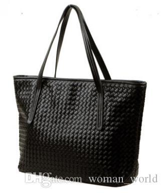 An Liya European and American fashion hand-woven bag shoulder bag Korean trend handbag large capacity casual women bag