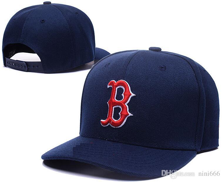 أعلى جودة رخيصة snapback القبعات الكلاسيكية إلكتروني b العظام البيسبول كاب مطرز فريق حجم شقة بريم القبعات للرجال ريد سوكس البيسبول كاب
