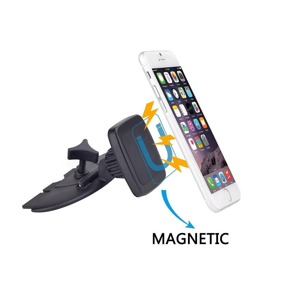 New Magnetic Cell Phone Car Holder CD Slot Mount for iPhone 7 7+ 6 pcs N45 Magnets