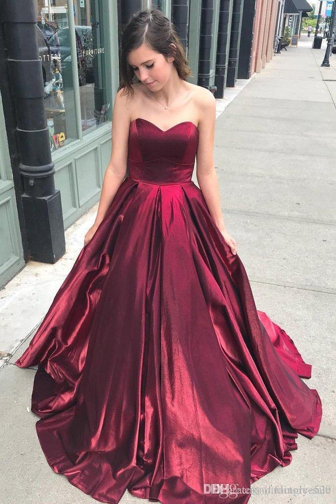 2019 nouvelle arrivée robes de soirée rouge sweetheart simple balayage train robes robe de soirée robes de soirée robe de cérémonie une occasion spéciale robe