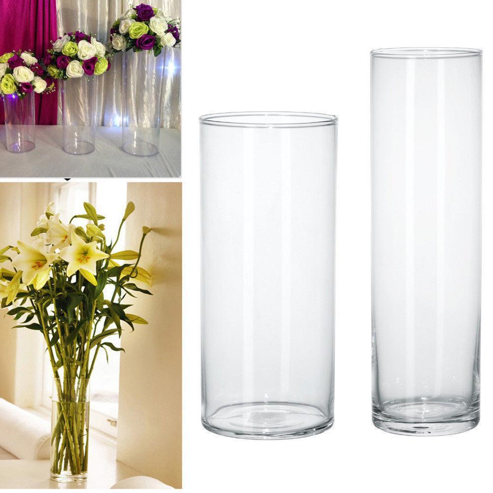Plastic Clear Round Cylinder Vase Bottle Hanging Vase For Plant Flower Wedding Party Bedroom Living Room Office Home Decoration Y19062803