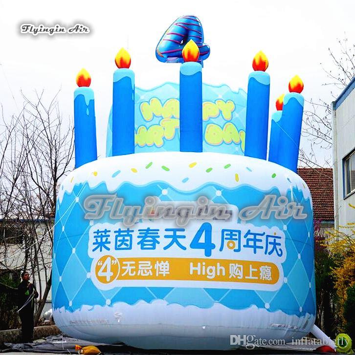 Prime 2020 Customized Advertising Inflatable Celebration Cake Model 3M Funny Birthday Cards Online Unhofree Goldxyz