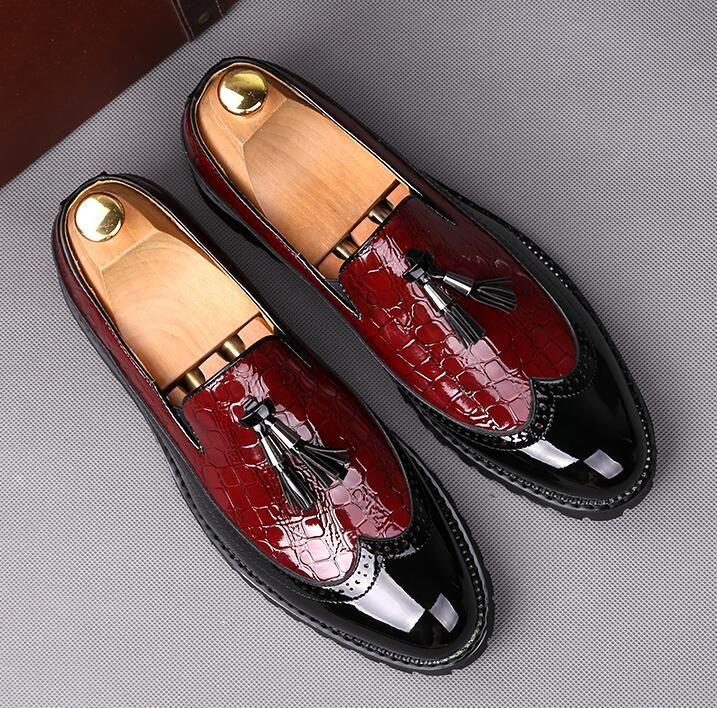 2019 Büro Männer Kleid Schuhe Italienische Hochzeit Mann Casual Oxfords Anzug Schuhe Mann Wohnungen Lederschuhe Zapatos Hombre größe: 39-44