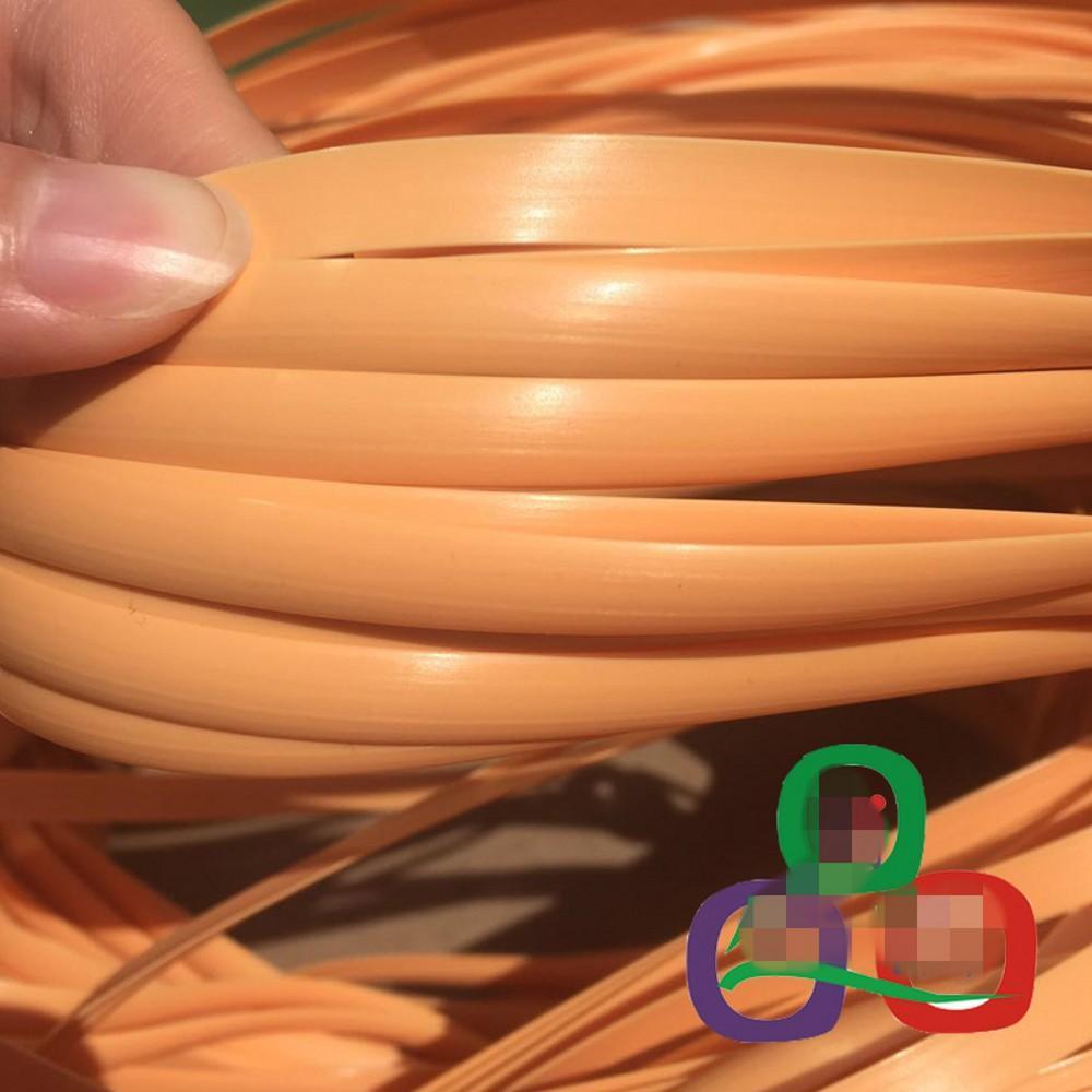 500G اللون الأصفر التقليد الاصطناعية مسطحة الروطان النسيج المادي البلاستيك الروطان واسعة 8MM 1.2MM سميكة لمتماسكة والجدول إصلاح كرسي الخ