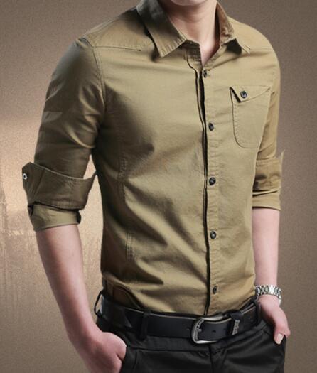 Tasarımcı Erkek Slim Fit Tasarımcı Gömlekler Moda İş Erkek Gömlek Uzun Kollu Standı Yaka Tops