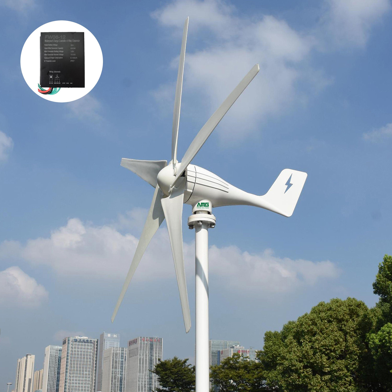 Black 12V Kit generatore di turbine eoliche da 400 W Aerogeneratore Turbine eoliche Aerogeneratore a 3 pale con accessorio controller