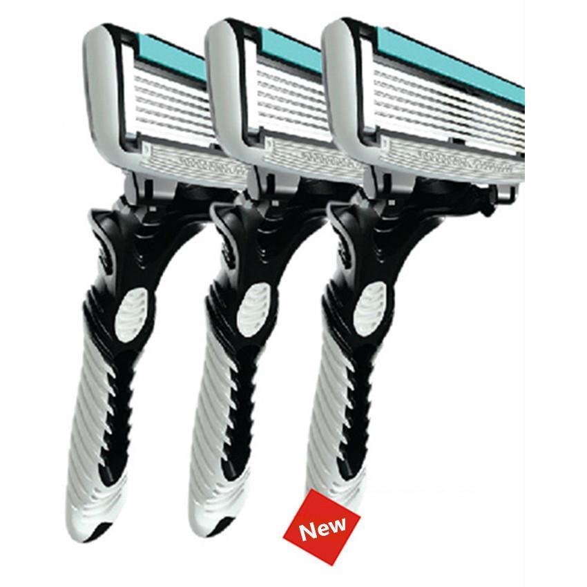 Original DORCO Men's Razor Blade 6 Layer Shaver Travel Manual Shaving Razors with Original Handle Safety Razor D19011606