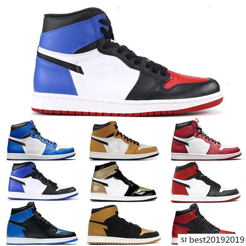 Top 3 scarpe da basket UNC per gli uomini Jumpman 1 Chicago glod nero punta vietato scarpe firmate gioco frammento mens Royal Sport scarpe da ginnastica