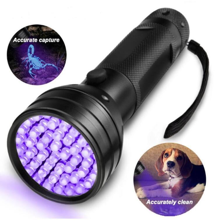 Alta Quailty 51 UV Ultravioleta Lanterna LED Blacklight Violet Black Light Torch 395 nM Shell de alumínio Lanterna UV Mini Light Lanternas