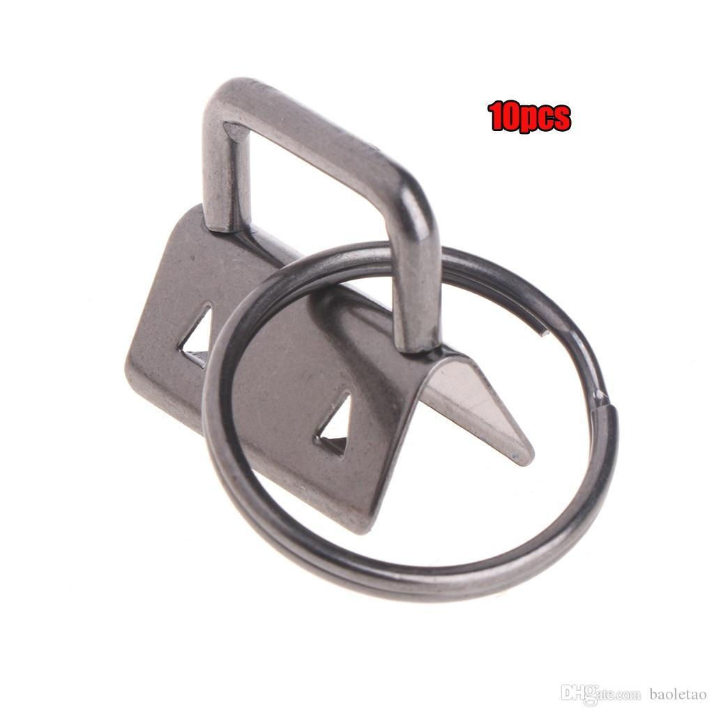 10pcs clé de matériel fob 25mm porte-clés fendue anneau pour poignet poignets coton queue clip