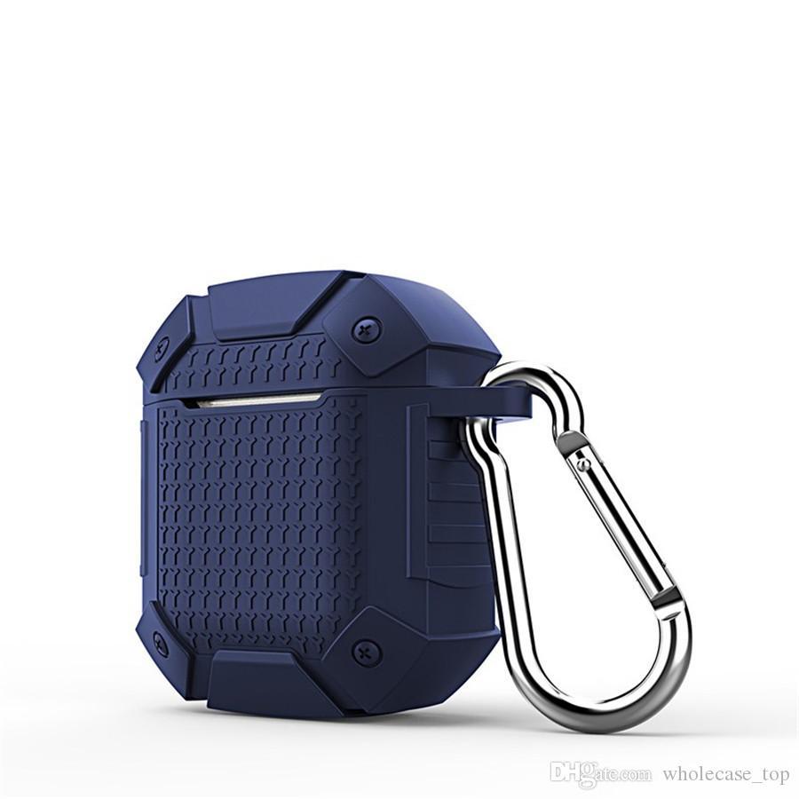 Un PCS Cas Pour Apple Airpods Cas Silicone Super Protéger Bouclier SGP SPIGEN Dur Armure Armure Airpod Couverture Earpod Case Anti-drop