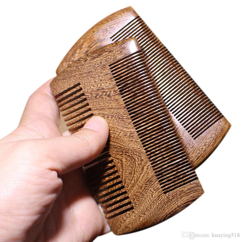 Livre jade pente verde sandalwood bolso barba cabelo pente.2 manual pente de madeira natural 1