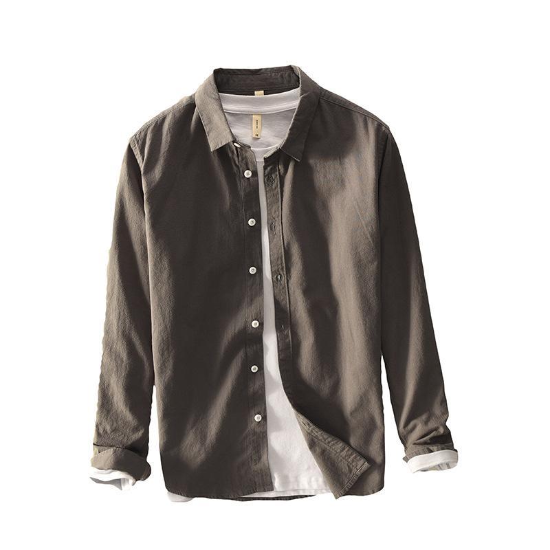 Camisa masculina Social primavera Nueva sólido camisa de vestir de los hombres de camisas de marca francesa manga larga Ropa comerciales