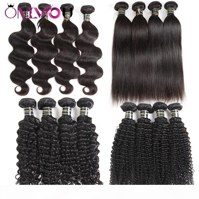 Необработанные Дешевые 9а бразильские Продавцы Straight Virgin человеческих волос Пучки Объемная волна Kinky завитые человеческих волос переплетений Raw Remy индейца человеческих волос