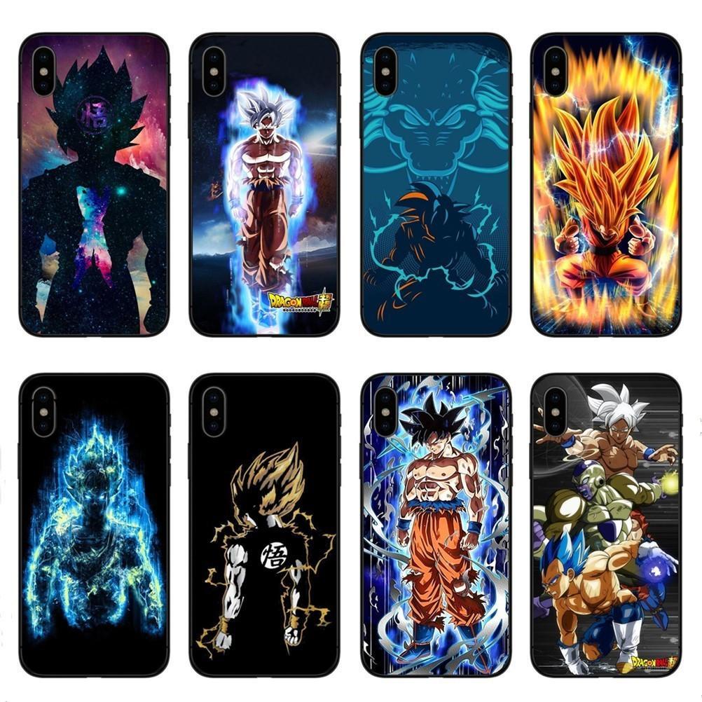 Cas de téléphone Dragon Ball DragonBall z cas de téléphone TPU souple pour iPhone X 10 Housse de protection pour iPhone 5S SE 6 6 S Plus 7 7 Plus 8 8 Plus