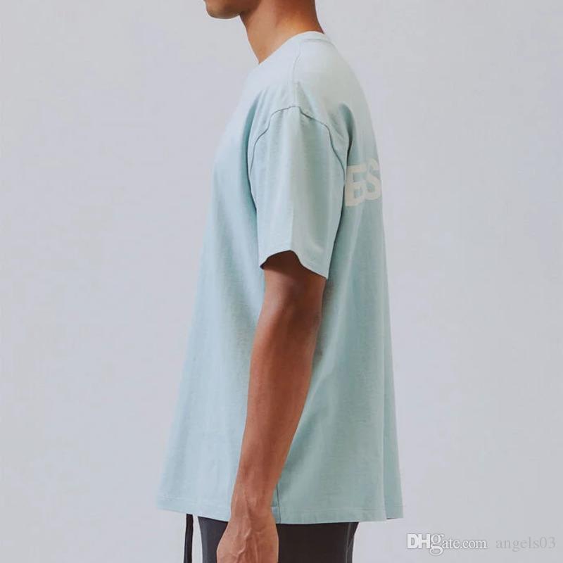 20SS ESSENTIALS 3M reflexiva Letter Impressão T-shirt do grupo do pescoço manga curta T mulheres casal Mens Fashion Designer camisa HFXHTX045