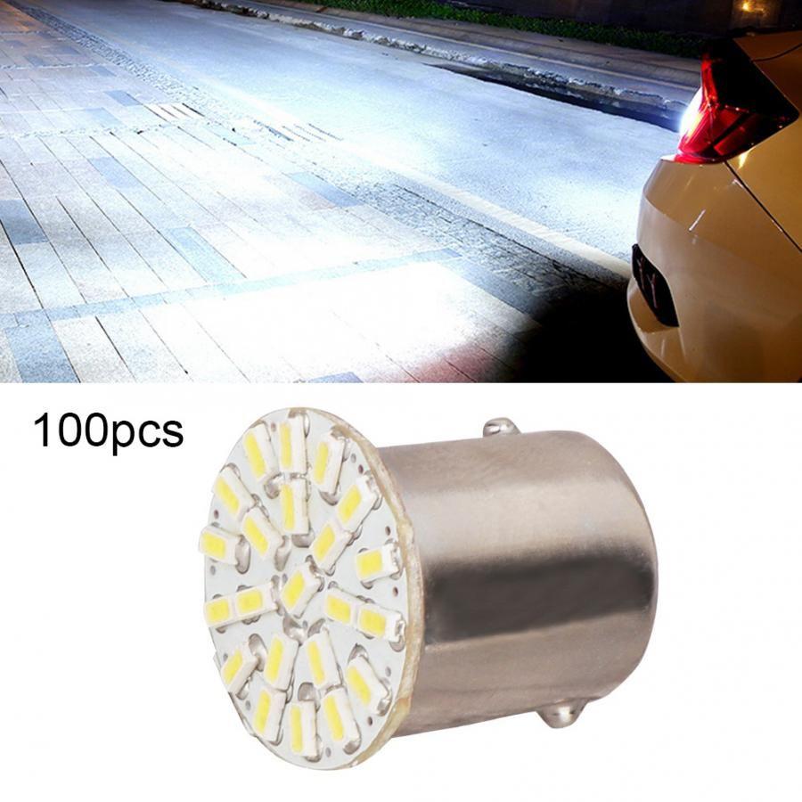 100pcs 1156 1141 1003 7506 22SMD 1206 LED Light Bulb Car Tail Backup Turn Signal Lamp Bulbs DC 12V