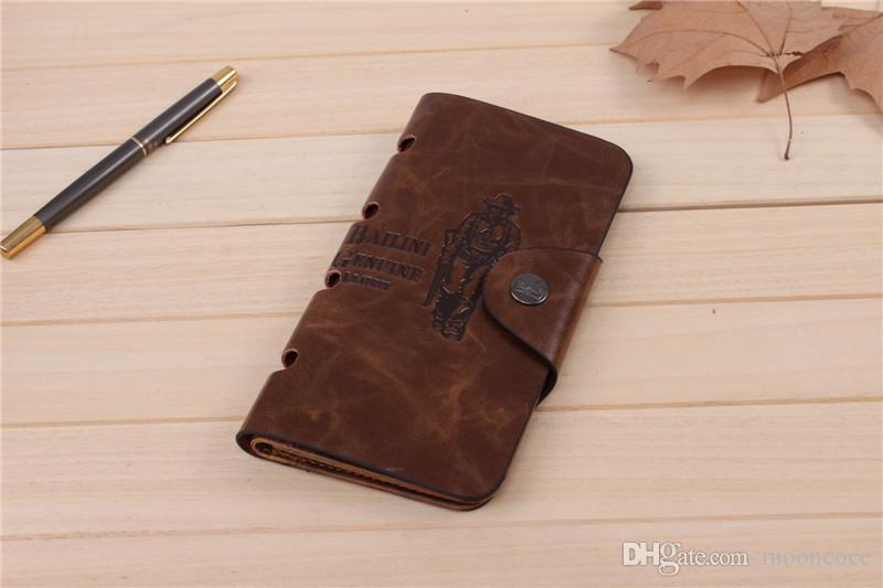 2020 neue lange Herren-Wallet Full Grain Leder ultradünne Multi-Kartenhalter Einfache Großräumige Kartenhalter
